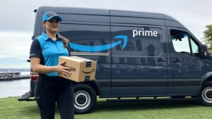 Amazon Driver and Van