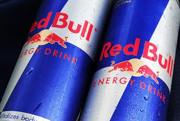 Two cans of Red Bull Energy Drink